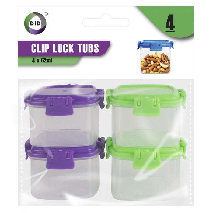 Buy wholesale 4pc clip lock tubs Supplier UK