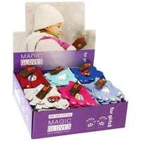 Girls Thermal Magic Gripper Gloves in CDU 1pp