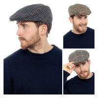 Mens Checked Flat Cap