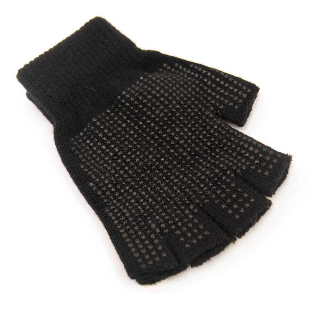 Adult Fingerless Magic Gripper Gloves with Grip