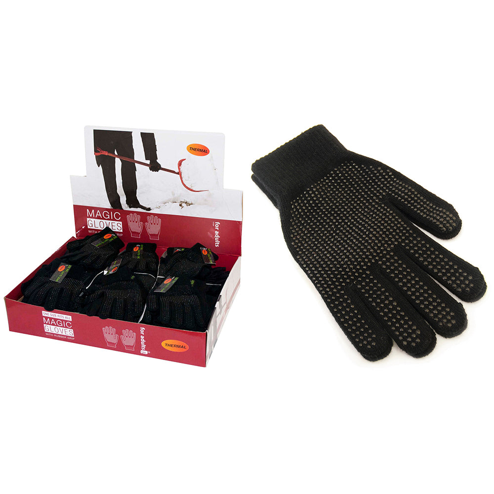 Adult Magic Gripper Gloves with Grip in Display Unit