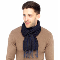 Mens Woven Striped Scarf