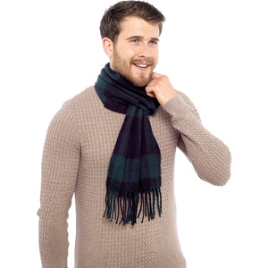 Mens Checked Scarf