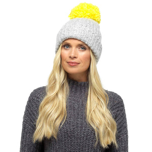 Ladies Large Pom Pom Hat