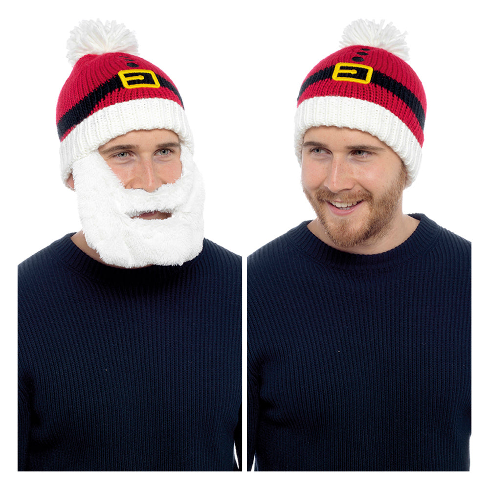 Mens Santa Beard Hat