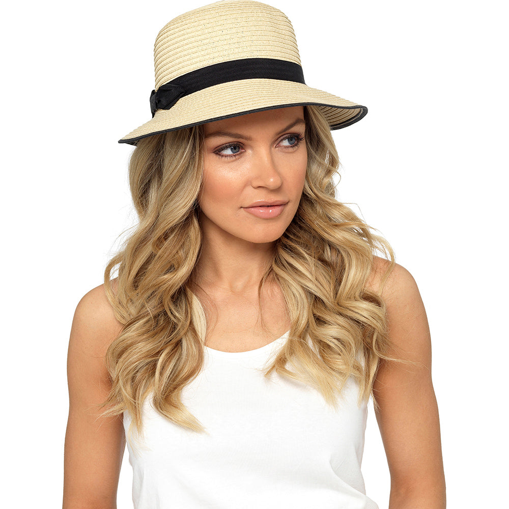 Ladies Cloche Summer Hat with Bow