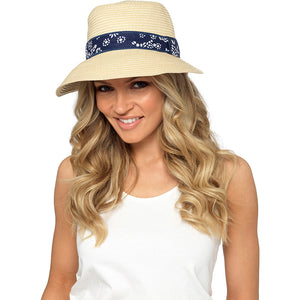Ladies Cloche Summer Hat with Ribbon Trim