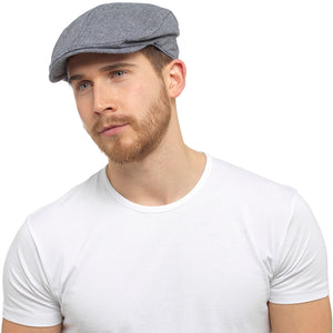 Mens Small Check Flat Cap