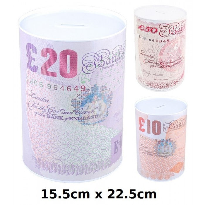 Buy wholesale 15.5cm x 21.5cm money tin Supplier UK