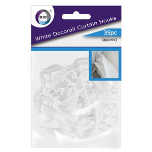 Buy wholesale 35pc white decorail curtain hooks Supplier UK