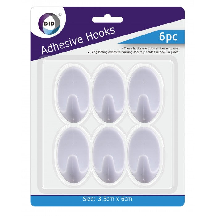 Buy wholesale 6pc adhesive hooks Supplier UK