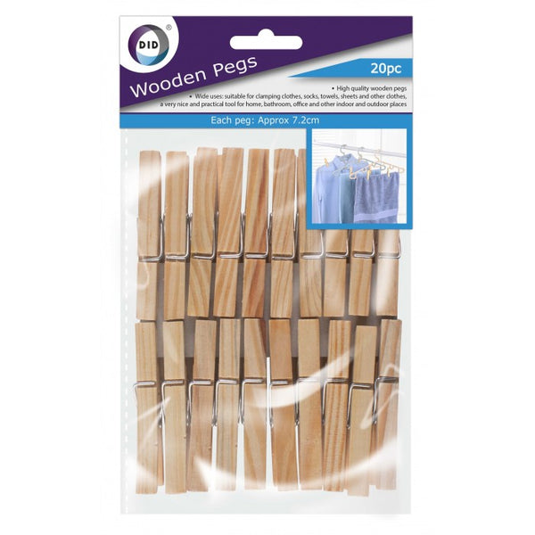 Buy wholesale 20pc wooden pegs Supplier UK