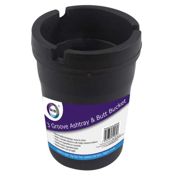 Buy wholesale 3 groove ashtray & butt bucket Supplier UK