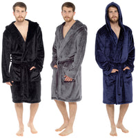 Mens Hooded Shimmer Robe