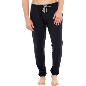 Mens Jersey Contrast Inner Waistband Cuffed Lounge Pants