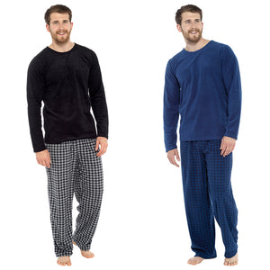 Mens Fleece Pyjama Set