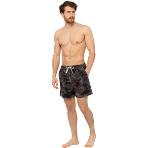Mens Army Camouflage Camo Printed Swim Shorts