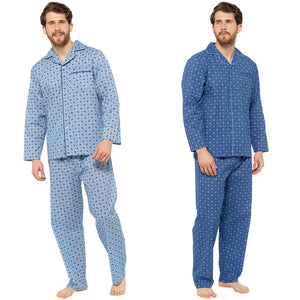 Mens Printed Poly Cotton Traditional Pyjama Set