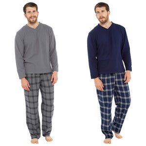 Mens Fleece Top & YD Checked Pyjama Set