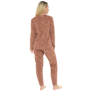 Ladies Novelty Fleece Bear Pyjama