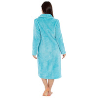 Ladies Fleece Zip Through Waffle Gown