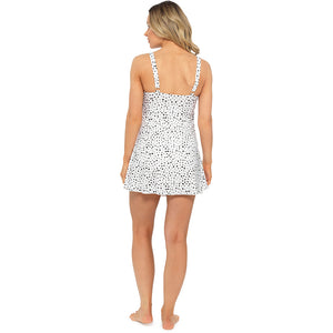Ladies Monochrome Printed Swim Dress