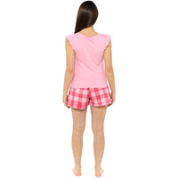 Ladies Jersey Ruffle Tie Top with Check Shorts