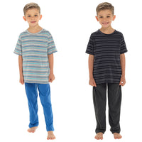 Boys Striped Top Pyjama Set