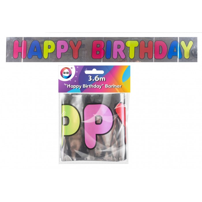 Buy wholesale 3.6m happy birthday banner Supplier UK