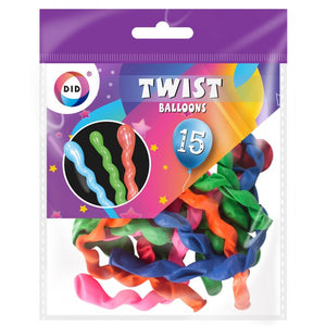 Buy wholesale 15pc twist balloons Supplier UK