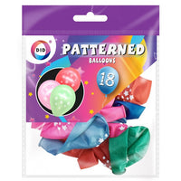 Buy wholesale 18pc patterned balloons Supplier UK