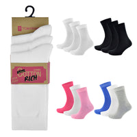 Ladies Cotton/Lycra Socks (3 Pack)