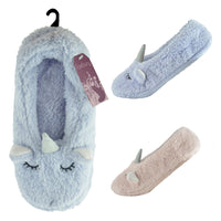 Ladies Unicorn Slipper Socks 1pp