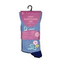 Ladies Soft Top Design Socks (3 Pack)