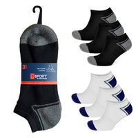 Mens Design Cotton Rich Trainer Socks (3 Pack)