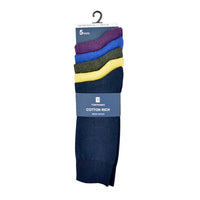 Mens Cotton Rich Coloured Socks (5 Pack)