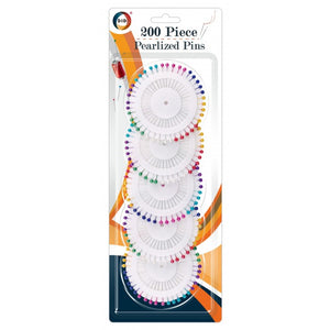 200pc pearlized pins