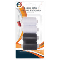 4pc black and white spools