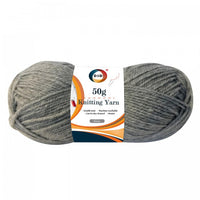 50g knitting yarn-grey