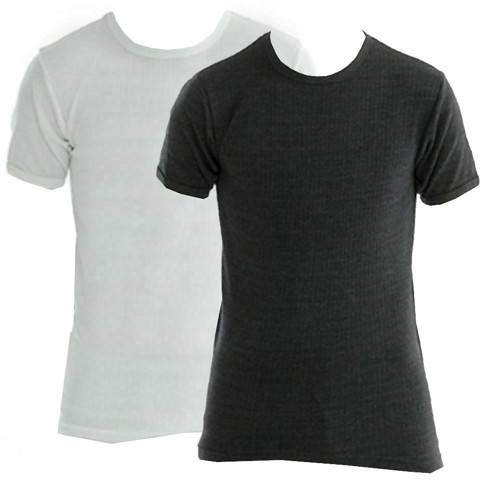 Mens Thermal Short Sleeve Top Tshirt