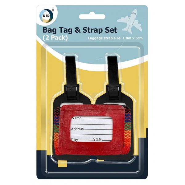 Buy wholesale 2pc bag tag & strap set Supplier UK