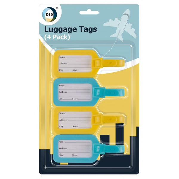 Buy wholesale 4pc luggage tags Supplier UK