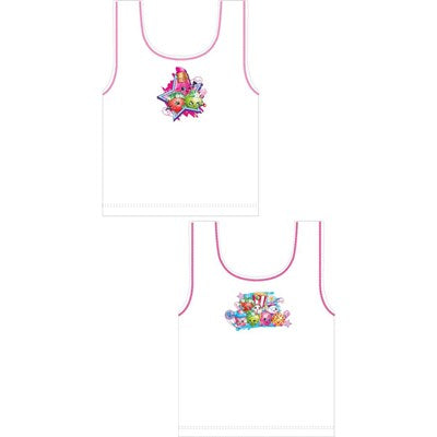 Girls Cartoon Character Shopkins Vests (2 Pack)