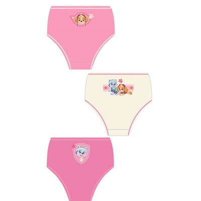 Girls Cartoon Character Paw Patrol Briefs (3 Pack)