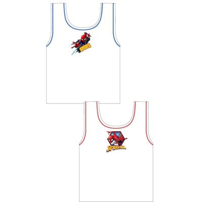 Boys Cartoon Character Spiderman Vests (2 Pack)