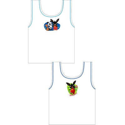Boys Cartoon Character Bing Vests (2 Pack)