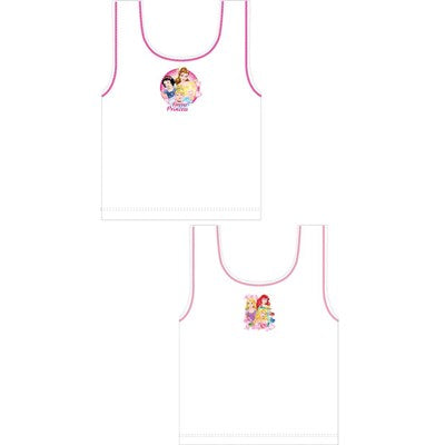 Girls Cartoon Character Disney Forever Princess Vests (2 Pack)
