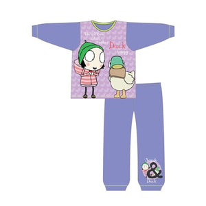 Girls Toddler Cartoon Character Sarah & Duck Long Sleeve Pyjama Set