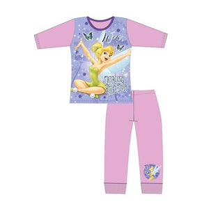 Girls Cartoon Character Tinkerbell Long Sleeve Pyjama Set
