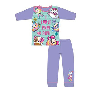 Girls Cartoon Character Pikmi Pops Long Sleeve Pyjama Set